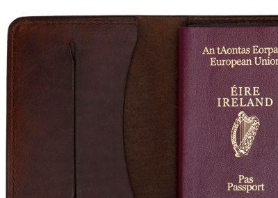 Leather Passport Travel Cover Ireland