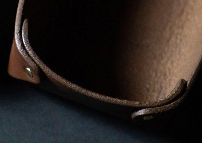 Leather valet trays