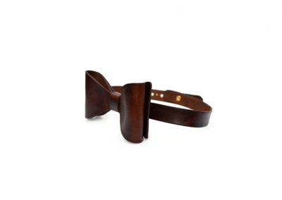 DE BRUIR Leather Bow Tie Gallery 1