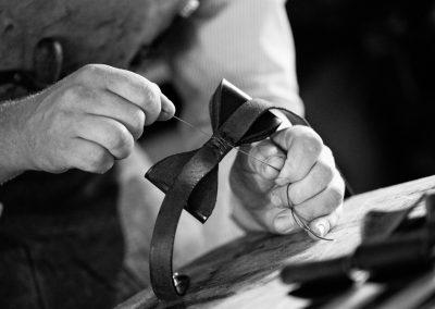 DE BRUIR Leather Bow Tie Gallery 12