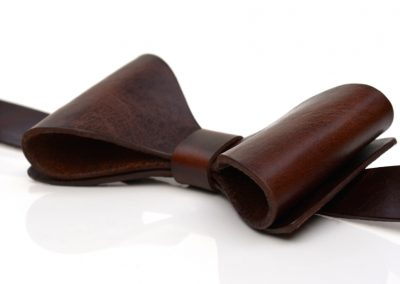 DE BRUIR Leather Bow Tie Gallery 3