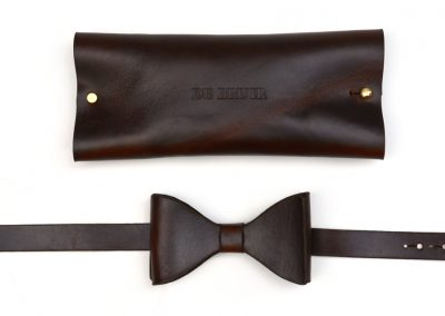DE BRUIR Leather Bow Tie Gallery 4