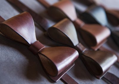 DE BRUIR Leather Bow Tie Gallery 8