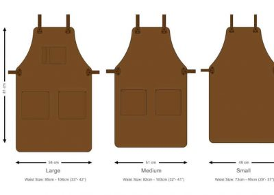 DE BRUIR Leather Catering Apron 2