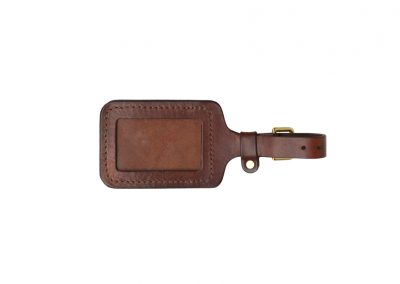 DE BRUIR Leather Luggage Tag Gallery 1