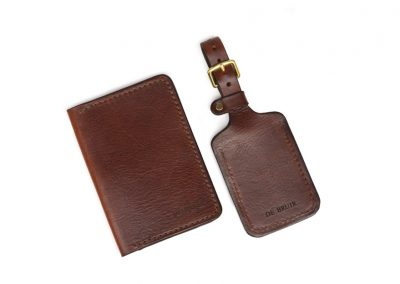 DE BRUIR Leather Luggage Tag Gallery 3