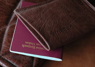 DE BRUIR Leather Passport Cover Gallery 11