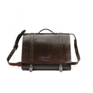Leather Busiiness Messenger Bag Main
