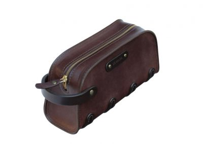 Leather Toiletry Bag made in Ireland