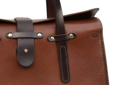 Two-Tone leather workbag