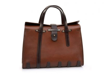 Vintage Workbag in Italian leather by DE BRUIR