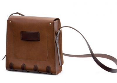 Leather Messenger Bag handle